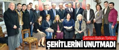 Samsun Balkan Türkleri Şehitlerini Unutmadı