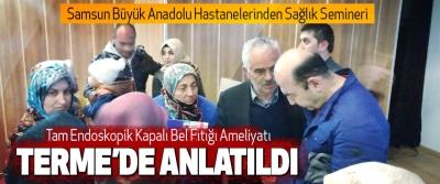 Samsun Büyük Anadolu Hastanelerinden Sağlık Semineri