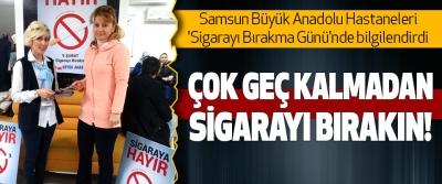 Samsun Büyük Anadolu Hastaneleri 'Sigarayı Bırakma Günü'nde bilgilendirdi