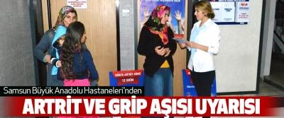 Samsun Büyük Anadolu Hastaneleri'nden Artrit Ve Grip Aşısı Uyarısı