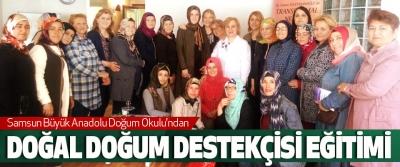 Samsun Büyük Anadolu Doğum Okulu'ndan Doğal Doğum Destekçisi Eğitimi
