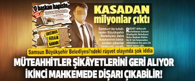 Samsun Büyükşehir Belediyesi'ndeki Rüşvet Olayında Şok İddia