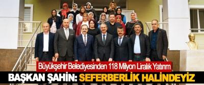 Samsun Büyükşehir Belediyesinden 118 Milyon Liralık Yatırım
