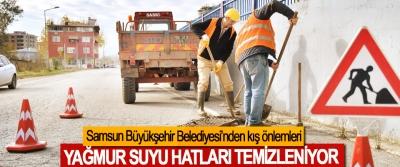 Samsun Büyükşehir Belediyesi'nden kış önlemleri
