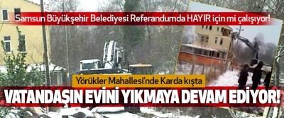 Samsun Büyükşehir Belediyesi Referandumda HAYIR için mi çalışıyor!