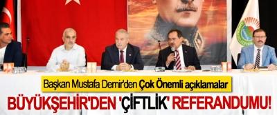 Samsun Büyükşehir'den 'çiftlik' referandumu!