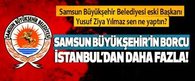 Samsun Büyükşehir'in borcu İstanbul'dan daha fazla!