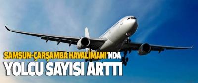 Samsun-Çarşamba Havalimanı'nda Yolcu Sayısı Arttı