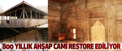 Samsun Çarşamba'daki 800 Yıllık Ahşap Cami Restore Ediliyor