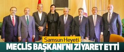 Samsun Heyeti Meclis Başkanı'nı Ziyaret Etti