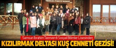 Samsun İbrahim Tanrıverdi Sosyal Bilimler Lisesinden Kızılırmak deltası kuş cenneti gezisi!
