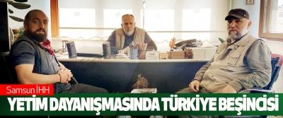 Samsun İhh Yetim Dayanışmasında Türkiye Beşincisi