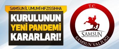 Samsun İl Umumi Hıfzıssıhha Kurulunun Yeni Pandemi Kararları!