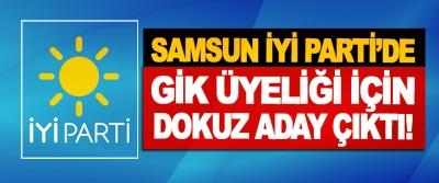 Samsun İyi Partide GİK Üyeliği İçin Dokuz Aday Çıktı!