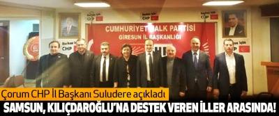 Samsun, kılıçdaroğlu'na destek veren iller arasında!