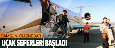 Samsun-Krasnodar Uçak Seferleri Başladı