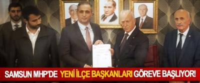 Samsun MHP'de Yeni ilçe başkanları göreve başlıyor!