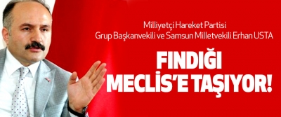 Samsun Milletvekili Erhan USTA  Fındığı Meclis'e Taşıyor!