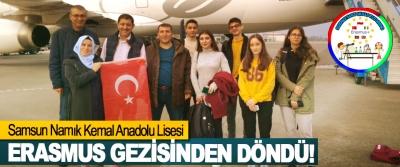 Samsun Namık Kemal Anadolu Lisesi Erasmus gezisinden döndü!