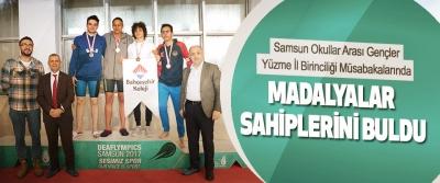 Samsun Okullar Arası Gençler Yüzme İl Birinciliği Müsabakalarında Madalyalar Sahiplerini Buldu