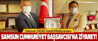 Samsun SASKİ Genel Müdüründen  Samsun Cumhuriyet Başsavcısı'na Ziyaret!