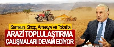 Samsun, Sinop, Amasya Ve Tokat'ta Arazi Toplulaştırma Çalışmaları Devam Ediyor