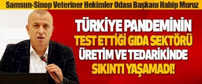 Samsun-Sinop Veteriner Hekimler Odası Başkanı Doç. Dr. Habip Muruz Türkiye Pandemide Sıkıntı Yaşamadı!
