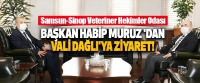 Samsun-Sinop Veteriner Hekimler Odası Başkan Habip Muruz 'dan Vali Dağlı'ya Ziyaret!