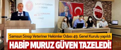 Samsun Sinop Veteriner Hekimler Odası 49. Genel Kurulu yapıldı