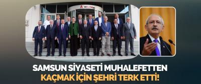 Samsun Siyaseti Muhalefetten Kaçmak İçin Şehri Terk Etti!