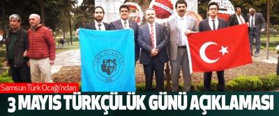 Samsun Türk Ocağı'ndan 3 Mayıs Türkçülük Günü Açıklaması