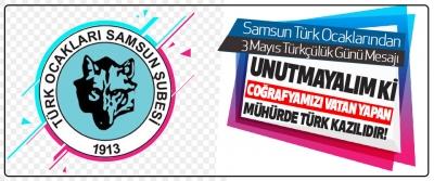 Samsun Türk Ocaklarından 3 Mayıs Türkçülük Günü mesajı