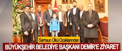 Samsun Ülkü Ocaklarından Büyükşehir Belediye Başkanı Demir'e Ziyaret