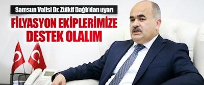 Samsun Valisi Dr. Zülkif Dağlı'dan uyarı