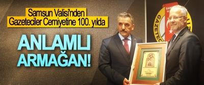 Samsun Valisi'nden Gazeteciler Cemiyetine 100. Yılda anlamlı armağan!