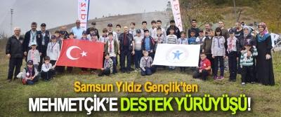 Samsun Yıldız Gençlik'ten Mehmetçik'e destek yürüyüşü!