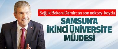 Samsun'a İkinci Üniversite Müjdesi