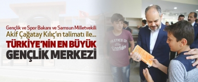 Samsun'da 2 Bin 500 Kişilik Gençlik Merkezi..