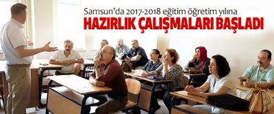 Samsun'da 2017-2018 eğitim öğretim yılına Hazırlık Çalışmaları Başladı