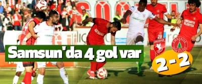 Samsun'da 4 gol var