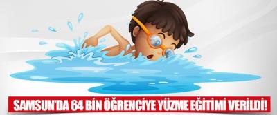 Samsun'da 64 Bin Öğrenciye Yüzme Eğitimi Verildi!
