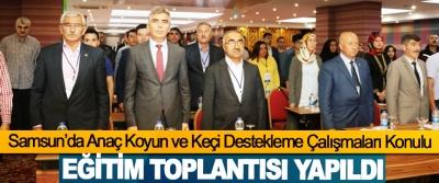 Samsun'da Anaç Koyun ve Keçi Destekleme Çalışmaları Konulu Eğitim Toplantısı Yapıldı
