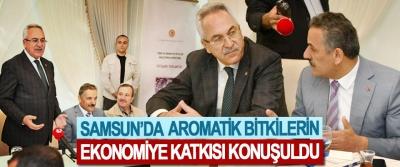 Samsun'da Aromatik Bitkilerin Ekonomiye Katkısı Konuşuldu