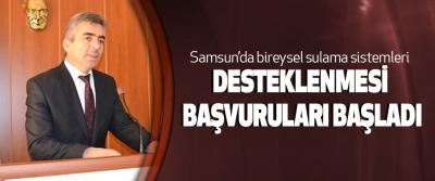 Samsun'da bireysel sulama sistemleri Desteklenmesi Başvuruları Başladı