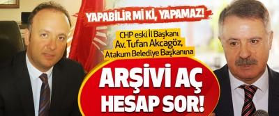 Samsun'da CHP eski İl Başkanı Av. Tufan Akcagöz, Atakum Belediye Başkanına