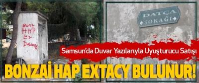 Samsun'da Duvar Yazılarıyla Uyuşturucu Satışı