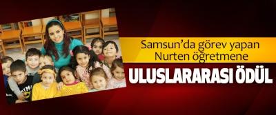 Samsun'da görev yapan Nurten öğretmene Uluslararası Ödül