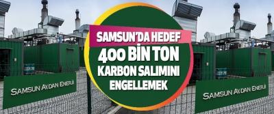 Samsun'da Hedef  400 Bin Ton Karbon Salımını Engellemek