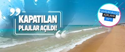 Samsun'da Kapatılan Plajlar Açıldı!