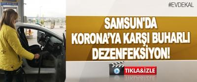 Samsun'da Korona'ya Karşı Buharlı Dezenfeksiyon!